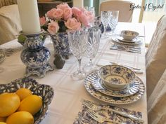 Gates of Crystal: A Blue and White Tablescape