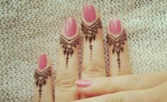 Dripping Shapes from Nail Pretty Mehndi Designs for Fingers