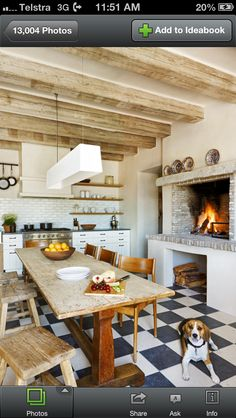Fireplace in the kitchen? Yes please!!