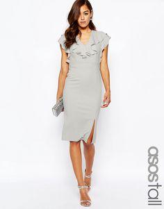 94dc4869f9 ASOS TALL Ruffle Front Pencil Dress  47.50 Formal Wedding Attire