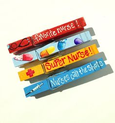 FAVORITE NURSE CLOTHESPINS nurse gift magnetic clothespins