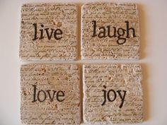 Live Laugh Love Joy Coasters