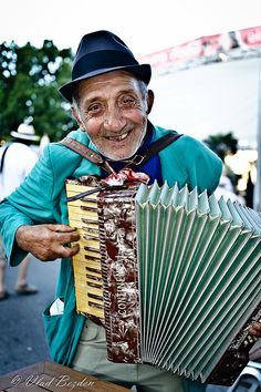 Musician on the streets of Vienna -Austria