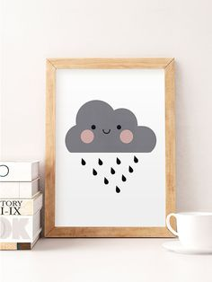 Cute cloud print, Nursery print, Nursery wall art, Cute art, Kids room art, Art for kids, Home decor, Cute, Little cloud, Minimalist nursery