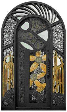 wild & new art deco door