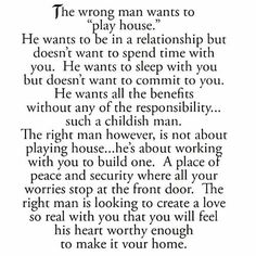 The right man vs the wrong man