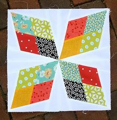 Arkansas Traveler quilt block by Lee of Freshly Pieced @ the Craftsy Blog