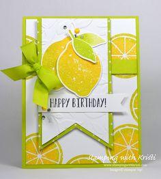 Stampin' Up! Lemon Zest card by Kristi @ www.stampingwithkristi.com