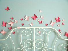 DIY Butterfly 3-D Wall Art