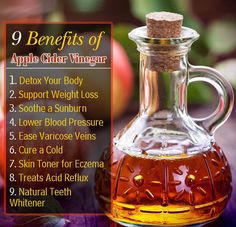 Apple cider vinegar has amazing health benefits and uses...