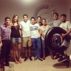 Franco, Agostina, Luchín & chicos de la escuelita de verano 2