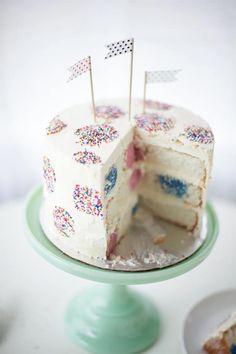 Polka Dot Inside-And-Out Birthday Cake - my cake for Handmade Charlotte!
