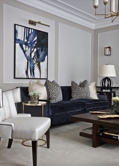 House Interior Design Ideas - Motivational Interior Decoration Ideas for Living Space Style, Bed Room Design, Cooking Area Style and also the whole home. Formal Living Rooms, Living Room Grey, Living Room Interior, Home Interior Design, Home And Living, Living Spaces, Cozy Living, Modern Living, Small Living