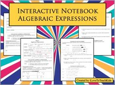 Algebraic Expressions; Order of Operations Notepage LessonThis is a great interactive notebook notepage that includes meaningful practice and examples.  The illustrations are visually engaging and graphic organizers help develop ideas in the lesson and support learning.Included:Editable Word Document for the front/back notes templatePDF File of Blank Notes and Completed Notes with ANSWER KEYMy hope is that you and your students find great success with this product!
