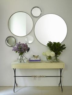 Espelhos redondos