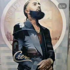 Nipsey Hussle: Marathon Still Going Tupac Art, Lauren London Nipsey Hussle, Rapper Art, Black Art Pictures, Hip Hop Art, Handsome Black Men, Hip Hop And R&b, Black Artwork, California Love