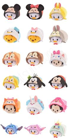 LOT of 50 Random Disney Tsum Tsum Characters Plus Some Accessories And A Plush!