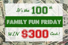 To celebrate it's 100th week of party fun, HappyandBlessedHome.com has joined up with a fabulous team of bloggers to give away $300 in Pay Pal Cash.