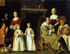 Le Nain brothers, (French artists, Antoine Le Nain (c.1599-1648), Louis Le Nain (c.1593-1648), and Mathieu Le Nain (1607-1677)Portrait in an interior