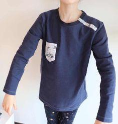 Test patron : le T-shirt Sinbad de Petits D'om - Huguette Huguette Dou Dou, Sewing Projects, Crochet, Mens Tops, T Shirt, Angles, Fashion, Scrappy Quilts, Baby Sewing