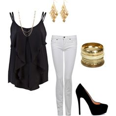 night out with the ladies, created by jaimebrink on Polyvore