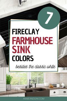 Fireclay Farmhouse Sink, Fireclay Sink, Farmhouse Sink Kitchen, Kitchen Sinks, Modern Farmhouse, Farmhouse Style, Farmhouse Decor, Butcher Block Countertops, Kitchen Countertops