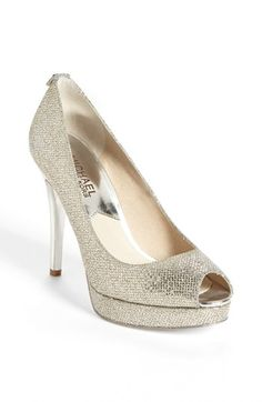 MICHAEL Michael Kors 'York' Platform Pump available at #Nordstrom These are the affordable version of those Jimmy Choo sling backs!