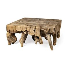 Tempel is a one of kind square teak coffee table. It is made from the roots of Indonesian hardwoods that are intricately selected and assembled to product a functional work of art that shows the amazing grain, growth patterns and qualities of the wood,  that will always be a head turner in any room it is placed in. Each table will be slightly different and unique to you.