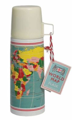 Rexinter thermosfles Vintage World Map thermosfles Vintage World Map