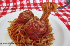 My Turn (for us): Turkey Meatballs and Spaghetti