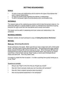 Healthy+Boundaries+Worksheet | Setting Boundaries Worksheet: