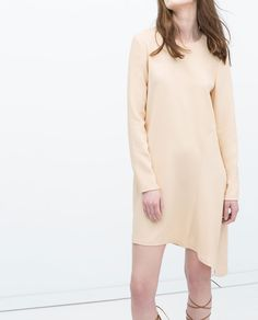 ZARA - NEW THIS WEEK - ASYMMETRIC SIDE STUDIO DRESS
