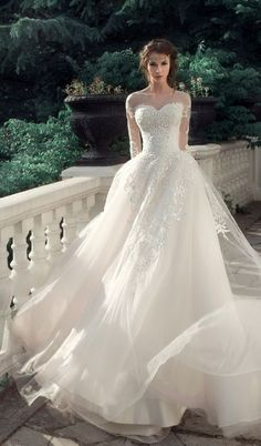 """Milva, a bridal house whose wedding dresses are designed with the elegant and classic bride in mind. The 2017 """"Sunrise"""" bridal collection is gorgeous. Bridal Wedding Dresses, Dream Wedding Dresses, Wedding Attire, 2017 Wedding, Wedding Styles, Wedding Ideas, Diy Wedding, Wedding Reception, Crazy Wedding"""