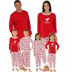 b212c408c0 Christmas Adult Family Pajamas Set Womens Long Sleeve Deer Sleepwear  Nightwear Pyjamas Costume Pajama Outfits