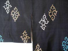 Black Kimono for women Silk robe Long kimono robe meisen