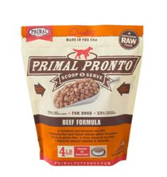 Primal Primal Raw Frozen Pronto Dog Food Beef 4 lb (*Frozen Products for Local Delivery or In-Store Pickup Only. Organic Pumpkin Seeds, Organic Quinoa, Organic Coconut Oil, Raw Pet Food, Raw Food Diet, Dog Food, Frozen Beef, Frozen Dog, Raw Food Recipes