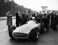 Stirling Moss' first drive of a Mercedes W196, Hockenheim, 4 December 1954 (Hardy)...