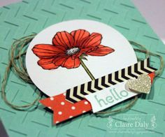 Stampin' Up! Peaceful Petals and Blendabilities by Claire Daly Melbourne Australia at www.clairedaly.typepad.com