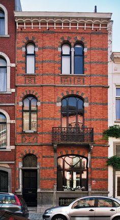 Art Nouveau, Minecraft Mansion, Saint Quentin, Doorway, Old Houses, Belgium, Facade, Architecture Design, Multi Story Building