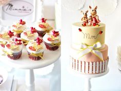 mother's day cake and cupcakes by Minnie's Sweet Creations