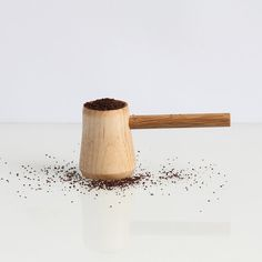Give them a pound of their favorite beans paired with a handmade coffee scoop.