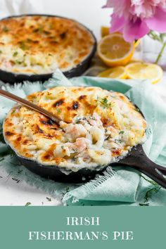 Irish Fisherman's Pie - Sprinkles & Sea Salt - Irish Fisherman's Pie Irish Fisherman's Pie, inspired by a recent trip to Ireland. This dish is made with a creamy seafood base of white fish, salmon, shrimp and squid and topped with mashed potatoes. Fish Dishes, Seafood Dishes, Seafood Recipes, Seafood Pie Recipe, Restaurant Dishes, No Salt Recipes, Cooking Recipes, Free Recipes, Easy Cooking