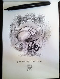 Day • 7 • SHY  #day7, #ink, #inksketch, #inktober, #inktober2017, #shy, #sketch