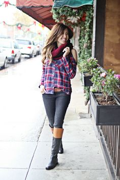 Spotted blogger @Joanne Hunter Doan is mad for our Charlotte Russe plaid shirt in her latest #ootd! See more of her look at http://www.lovefashionlivelife.com/2013/12/johanh-mad-for-cut-out-plaid.html #CRfashionista