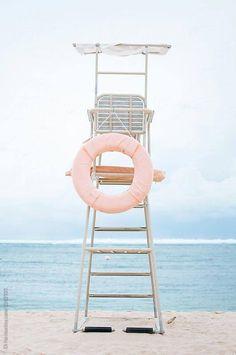 Stock photo of Lifeguard seat on the beach by DinaLun 2019 - summer dress summer shirts summer aesthetic aesthetic aesthetic collage aesthetic drawings aesthetic fashion aesthetic outfits flower aesthetic - blue aesthetic - Summer Blue Dresses 2019