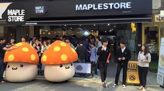 Page 1 of MapleStore is opened for business but not for long. MapleStore opened is gates in Seoul, and the MapleStory and MapleStory 2 fans can find goodies Maplestory 2, Orange Mushroom, Private Server, Pop Up Stores, Mickey Mouse, Blog, Business, Block Prints, Stuff Stuff