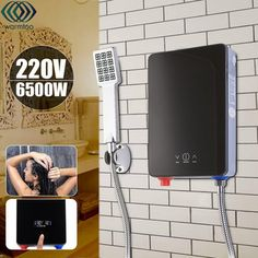 Electric Hot Water Heater Instant Heating Overheating Protection Constant Temperature With Shower Nozzle