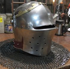 Late 14th Century Bascinet by Wild Armoury. Dream helm.