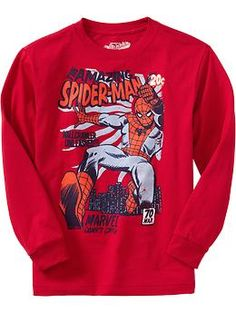 Boys Marvel Comics The Amazing Spiderman™ Tees | Old Navy my boy is so into this right now