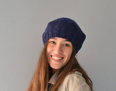 Beret Women knit hat warm for winter beret wool knit beret